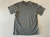 NIKE DRI-FIT Men's Short Sleeve Athletic T Shirt Gray Size Small Poly