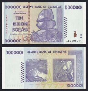 Zimbabwe 10000000000 dollars 2008 FDS/UNC  C-09
