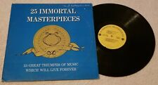 "Various Artists....""25 Immortal Masterpieces"" 12"" Vinyl Record LP"