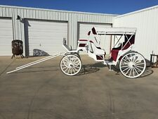 HORSE DRAWN CARRIAGE WAGON VIS-A-VIS ROBERTS CARRIAGE