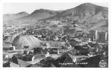 RPPC TONOPAH, NEVADA Bird's-Eye View Mining Town ca 1930s Frashers Postcard