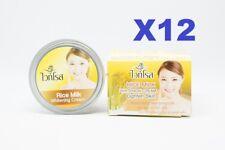 12pcsWhite Rose Rice Milk Whitening Cream Reduce Dark Spots Whitening Cream