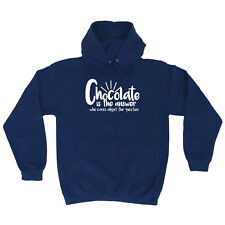 Funny Novelty Hoodie Hoody hooded Top - Chocolate Is The Answer