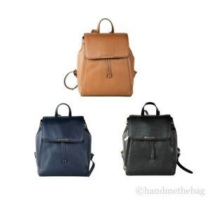 Michael Kors Medium Ginger Pebbled Leather Backpack Book Bag