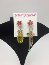 "$35 Betsey Johnson ""TROPICAL PUNCH PINEAPPLE"" Pave Crystals Drop Earrings K1T"