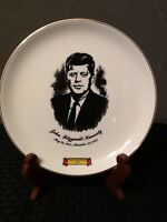 John F. Kennedy Commemorative Plate Gold Clay County Fair 1965