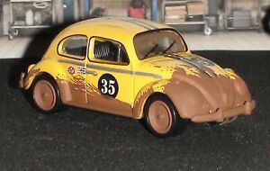VOLKSWAGEN BEETLE 1966 RALLY CAR #35 YELLOW MADE IN 2002 DIECAST SCALE 1/64 NEW