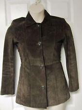 MARC New York ANDREW MARC Women's Brown Leather Suede Coat Jacket Sz XS