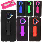 For Samsung Galaxy A6 2018 IMPACT Hard Rubber Kickstand Case Phone Cover