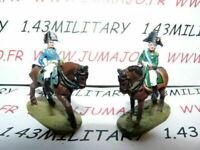 SOLDAT de plomb DEL PRADO 1/50 : AUSTERLITZ Napoléon : lot n°21 2 cavaliers