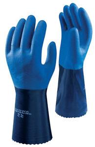 Showa 720 Nitrile Gloves Waterproof High Grip Oil & Chemical Resistant Gauntlet
