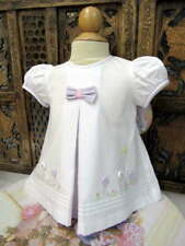 Will'beth Newborn Baby Girl Fancy Lavender Dress Buttons Portraits Easter NWT