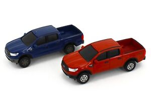 1:64 ERTL 2019 FORD RANGER XLT Pickup Truck *SET OF 2* Red & Blue *NEW w/TAG*
