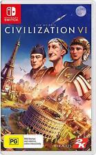 Sid Meiers Civilization VI 6 Six Empire Building Strategy Game Nintendo Switch