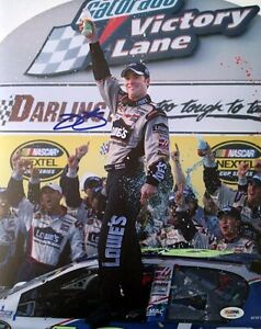 JIMMIE JOHNSON SIGNED AUTOGRAPHED 11x14 PHOTO PSA/DNA