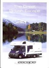 The Great British Escape Fiat Ducato 6 sideA4 2010 campervan brochure Cottingham