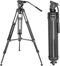 Neewer Professional 155cm Aluminum Alloy Video Camera Tripod 360 drag fluid Head