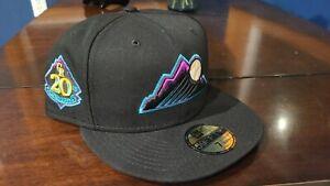 Sportsworld 165 Colorado Rockies 20TH ANNIVERSARY BLACK GRAPE UV 7 3/4 Hat