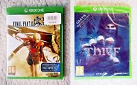 LOT 2 XBOX ONE Games: FINAL FANTASY HD TYPE 0 & THIEF. PAL. BRAND NEW & SEALED!