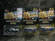 3 new york racing  champions police cars