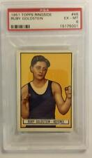 RARE 1951 TOPPS RINGSIDE RUBY GOLDSTEIN REFEREE #46 EX-MT PSA 6 NM