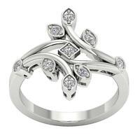I1 G Natural Diamond 0.40 Ct Anniversary Wedding Ring Appraisal 14K White Gold