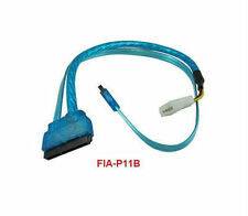 "18"" SATA-3 Combo Power+Data to SATA + 4-Pin Molex Cable"