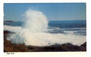"VTG Chrome ""High Surf"" Pounding surf along the New England Coast Ocean waves"