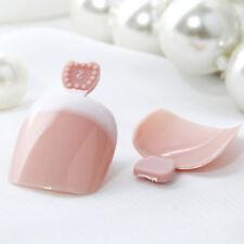 24Pcs False Toenail Tips French Full Cover Fake Toe Nail Tips DIY Manicu Set UK