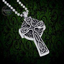 New Celtic Cross Irish Cremation Urn Ash Holder Silver Memorial Necklace