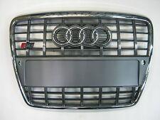 Original Audi A6 S6 4F Kühlergrill Chromstreben Grau inkl. Schriftzug und Blende
