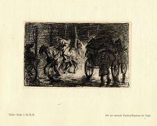 Walter Miehe 2.g. - r. - r. rue Cambrai-Bapaume guerra pintor * era artist * 1.wk