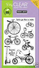 HERO ARTS Clear Stamps JOY RIDE Bike Bicycle Tricycle Unicycle Scooter