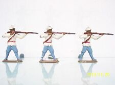 France Lead (3) 55Mm D.C. Colonial Soldiers Firing Ex