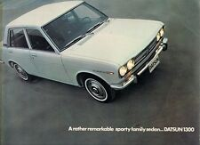 Datsun Nissan 1300 Bluebird Saloon 1969-70 UK Market Sales Brochure