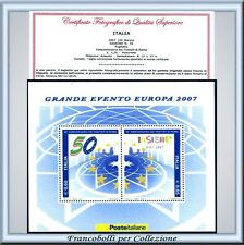 Italia Foglietto Europa 2007 Trattati  Roma Varietà