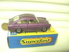 LESNEY MATCHBOX 1970 MB67A PURPLE VW VOLKSWAGEN 1600TL *C9 MINT IN NEAR MINT BX*