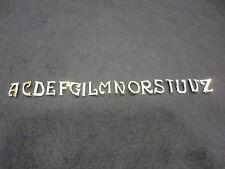 LETTERE CIFRE IN METALLO COL. ORO DA CUCIRE  ALTEZZA 1,5 cm PER CIFRARE PELLICCE