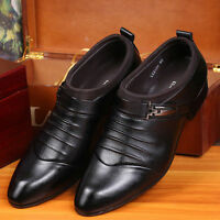 Chic Hot Men's Business Wedding Pointed Toe Formal Leather Dress Oxfords Shoes