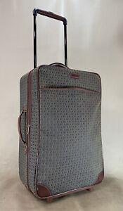 "HARTMANN WINGS Diamond Jacquard Cognac Brown 22"" Upright Exp Carry On Suitcase"