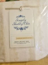 Simply Shabby Chic King Size Thin Floral Stripe Duvet Set. Unopened