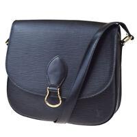 Auth LOUIS VUITTON Saint Cloud GM Shoulder Bag Epi Leather Black M52192 88MC118