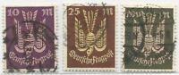Imperio Alemán De 1923: Sellos de Correo Aéreo Holztaubeii MiNr.235-237,