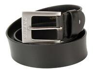 New Men's Metal Loop Milano Leather Buckle Belt Black and Brown