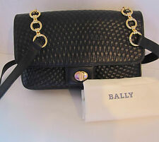 Bally Handbag Vintage Quilted leather with Gold Chain #2555