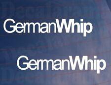 2x Car Stickers GERMAN WHIP Funny Novelty Van Bike Window Bumper Boot Decals