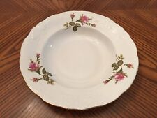 WAWEL China Rose Pattern Rim Soup Bowl Made in Poland