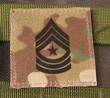 Galon US - SERGEANT MAJOR - grade scratch MULTICAM rank insignia SNAKE PATCH