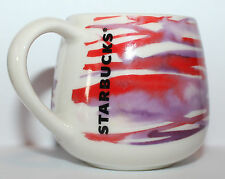 NEW Starbucks Espresso 3 oz Demi Cup Mug Spring Watercolor Red Purple 2016
