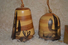 2-Pacific stoneware inc.USA - Hand Painted pottery Deck Garden Wind chime bells